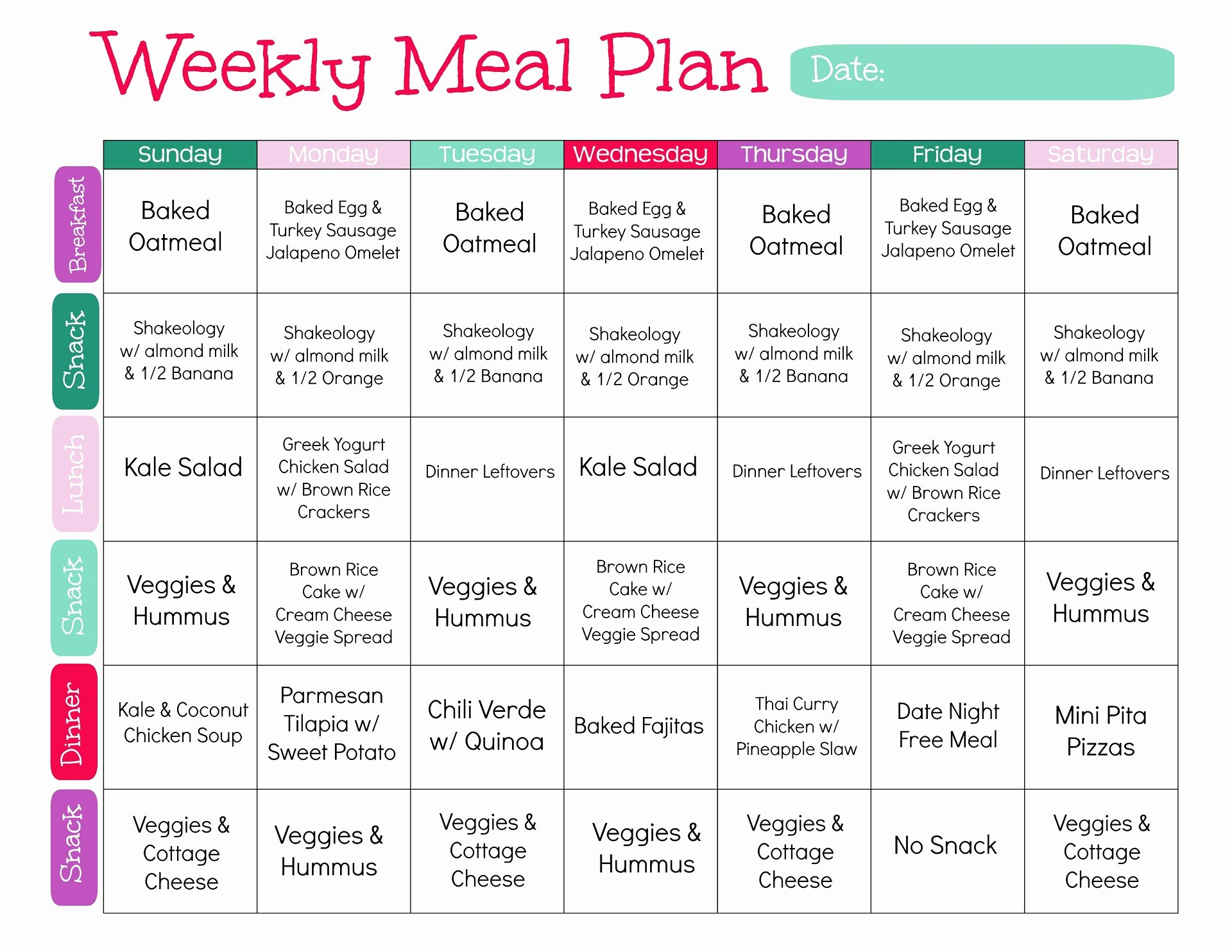Weight Loss Meal Planner Template Lovely Best Way to Lose Weight In 2018 Meal Plan