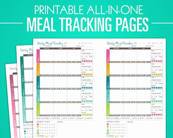 Weight Loss Meal Planner Template Lovely Printable Meal Tracking Pages