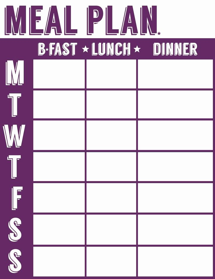 Weight Loss Meal Planner Template New Remodelaholic
