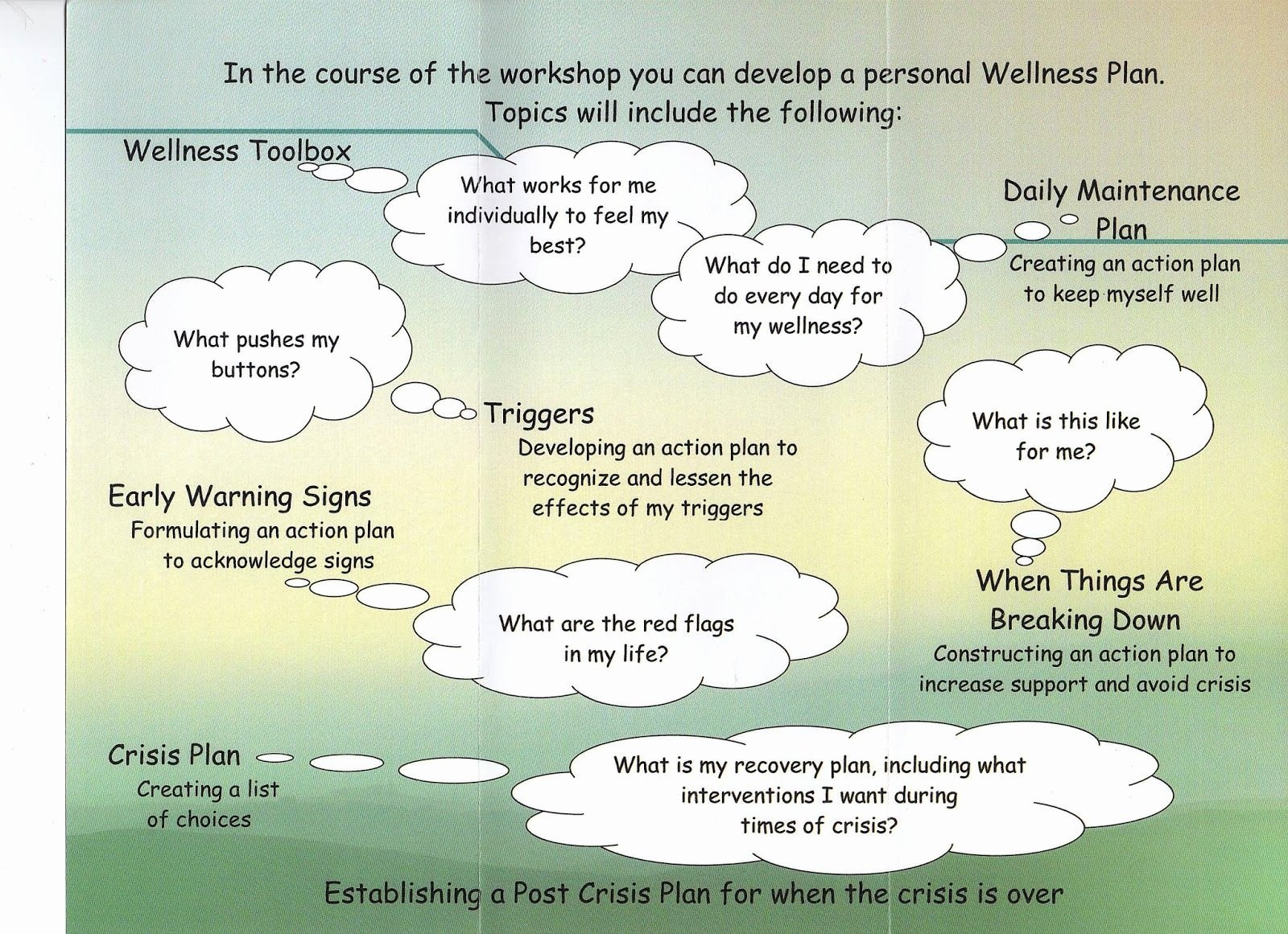 Wellness Recovery Action Plan Template Inspirational W R A P Wellness Recovery Action Plan Wellness tools