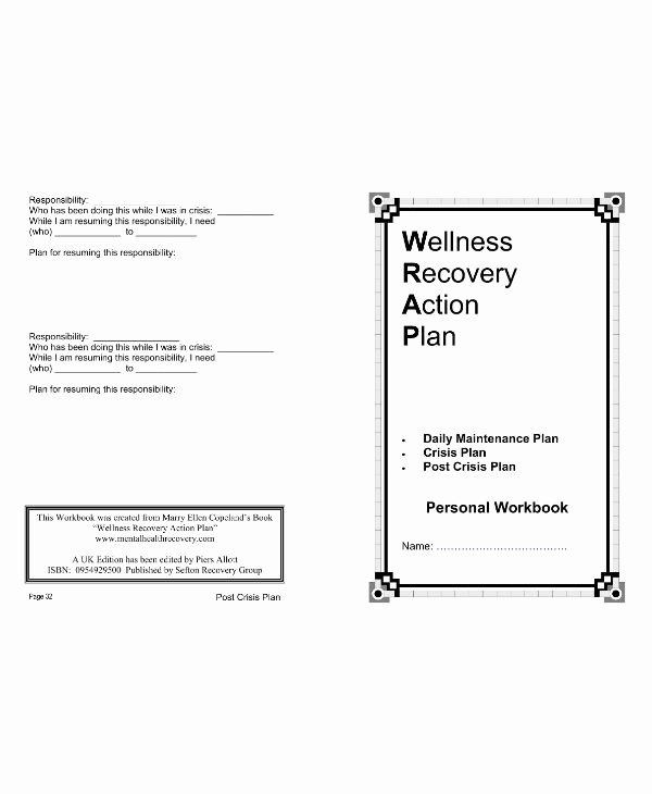 Wellness Recovery Action Plan Template Unique 11 Wellness Recovery Action Plan Templates Pdf Word