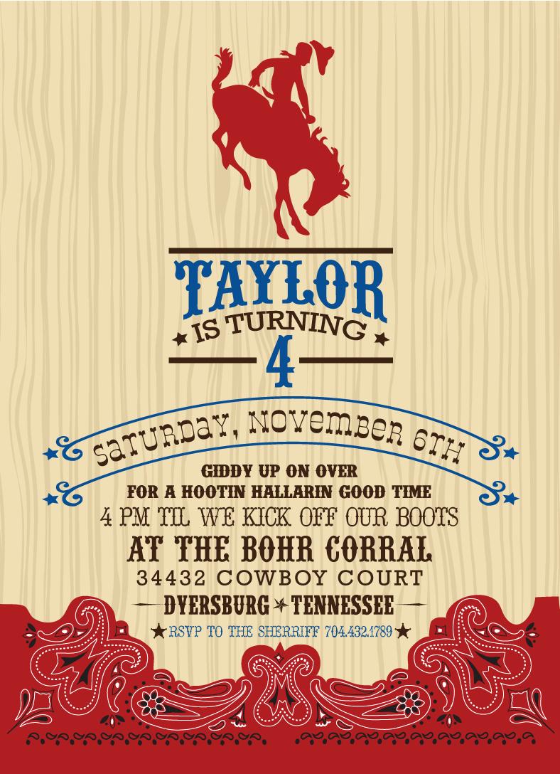 Western Party Invitation Template Best Of Free Cowboy Birthday Invitations – Free Printable Birthday