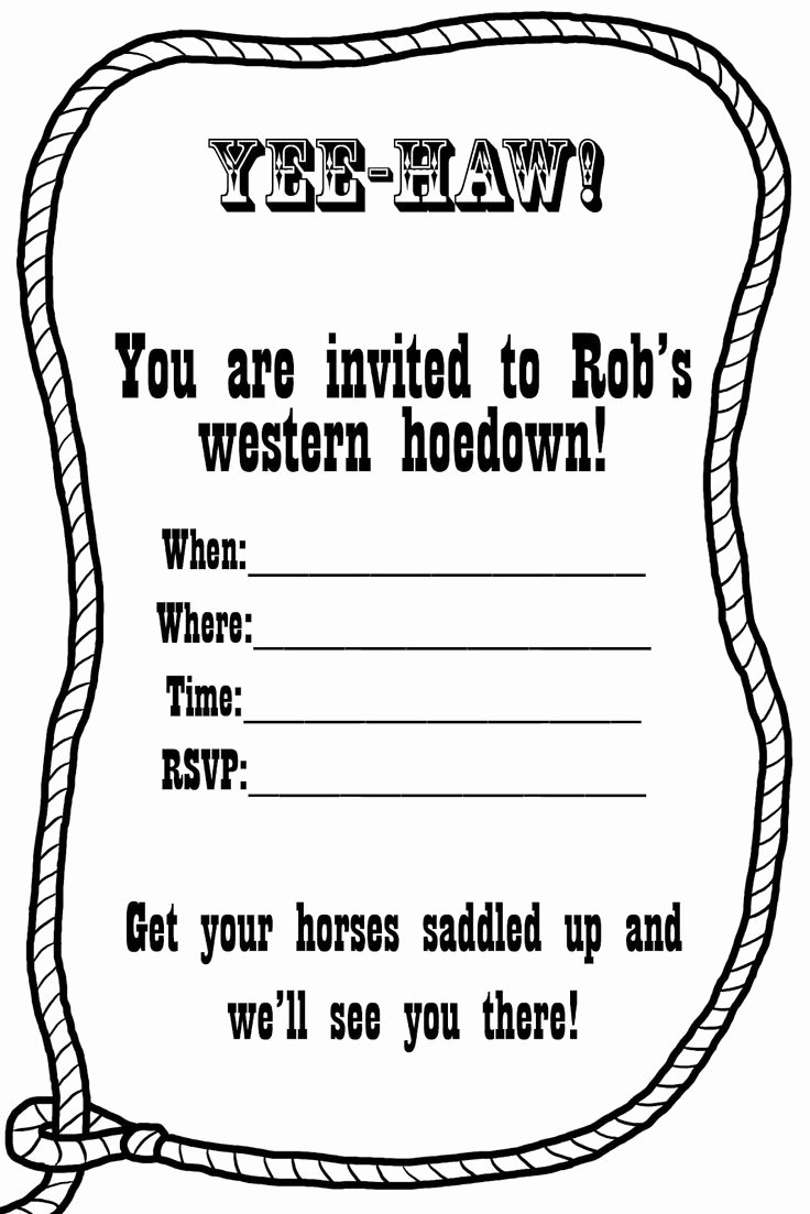Western Party Invitation Template Best Of Free Western Invitation Templates