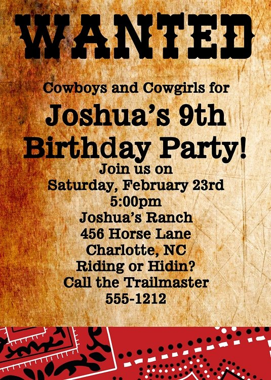 Western Party Invitation Template Fresh Wanted Poster Invitations
