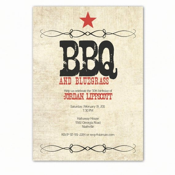 Western Party Invitation Template Inspirational Western Birthday Party Invitation Western Bbq Party