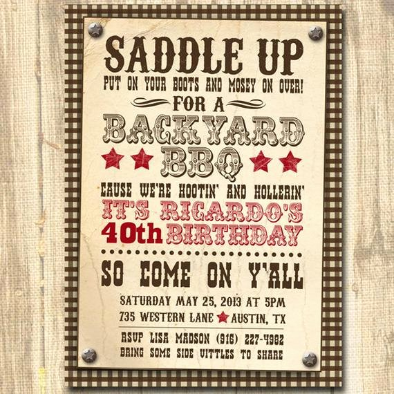 Western Party Invitation Template Inspirational Western themed Birthday Western Invitation Western theme