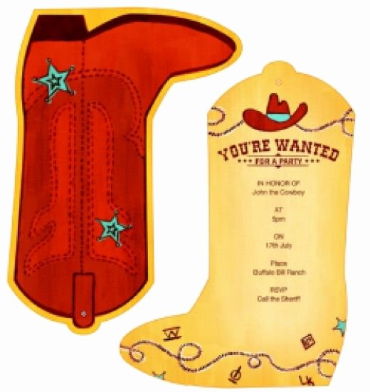 Western Party Invitation Template Lovely Free Printable Birthday Party Invitations Templates