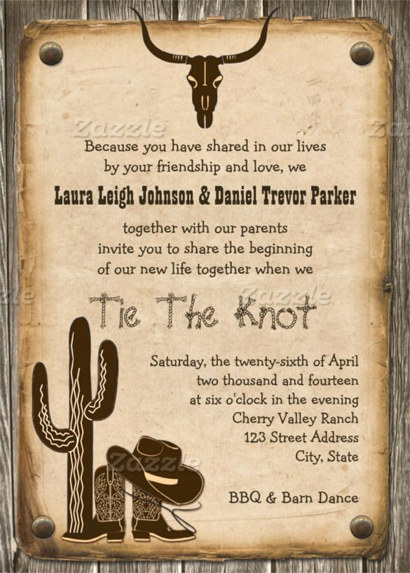 Western Party Invitation Template Lovely Free Western Invitation Templates