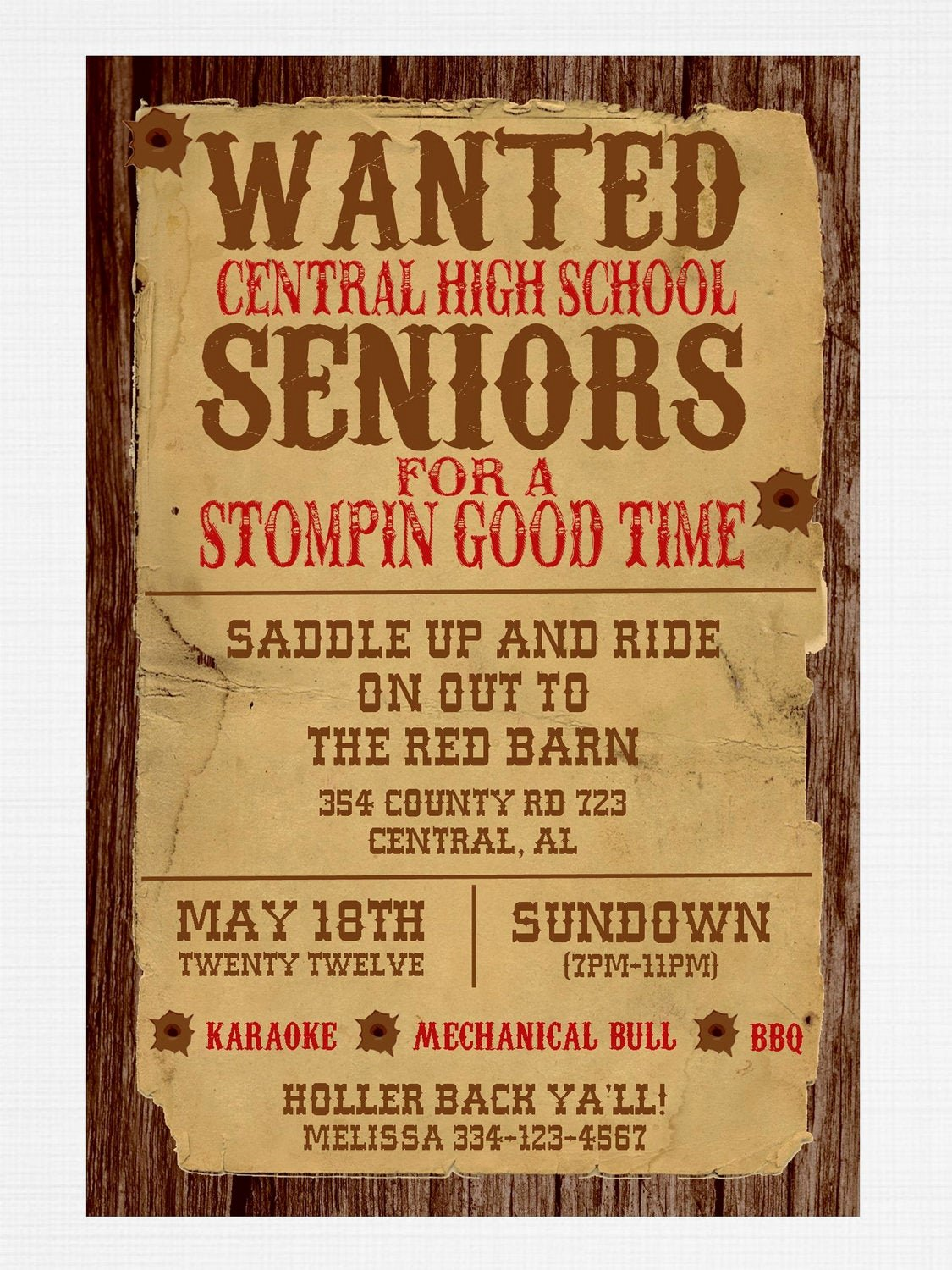 Western Party Invitation Template New Wanted Poster Western Party Invitation by Graysgraphicdesigns