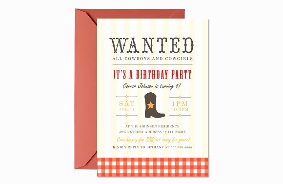 Western Party Invitation Template New Western Birthday Invite Template Invitation Templates On