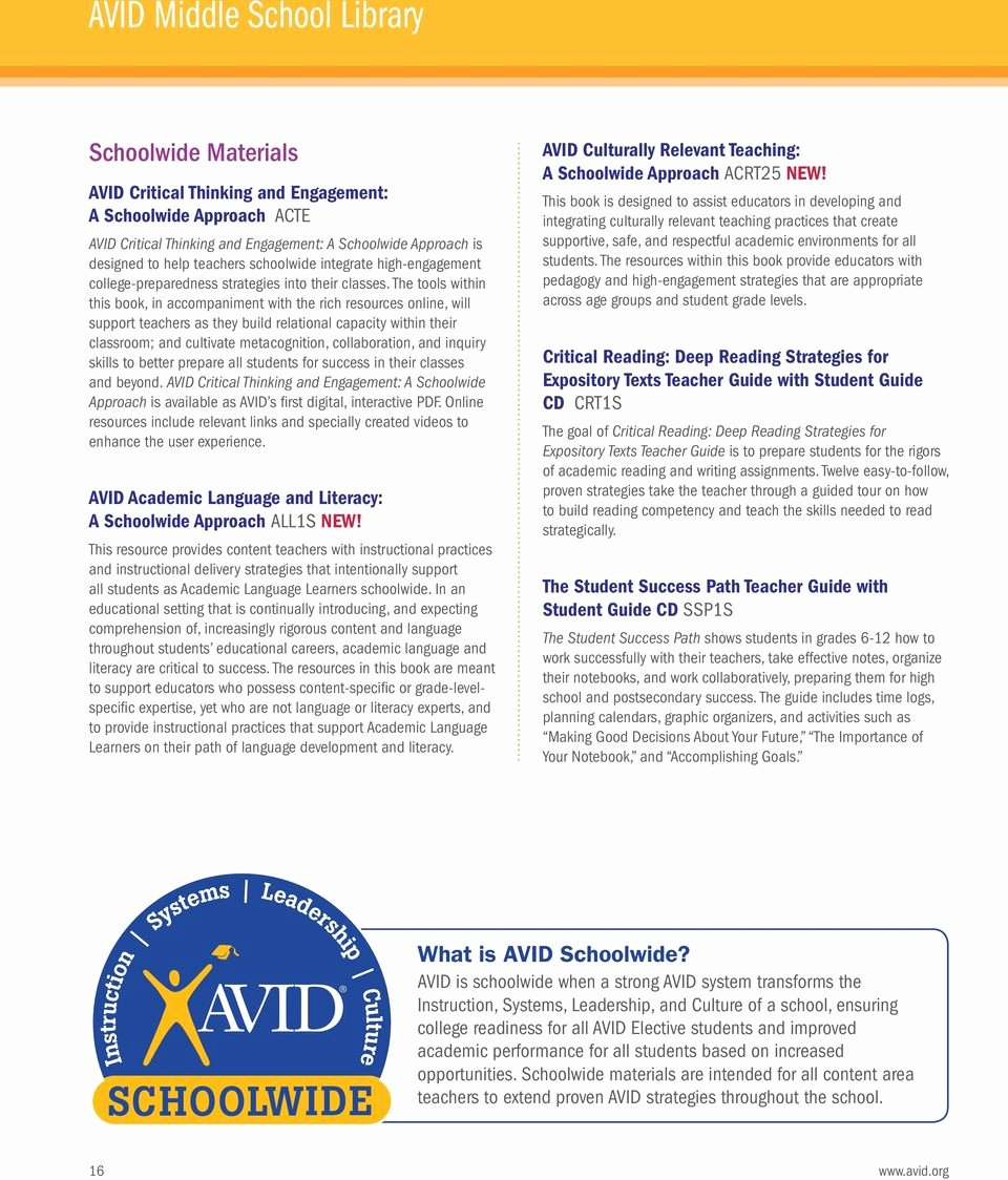 Wicor Lesson Plan Template Unique Avid Reading Strategies
