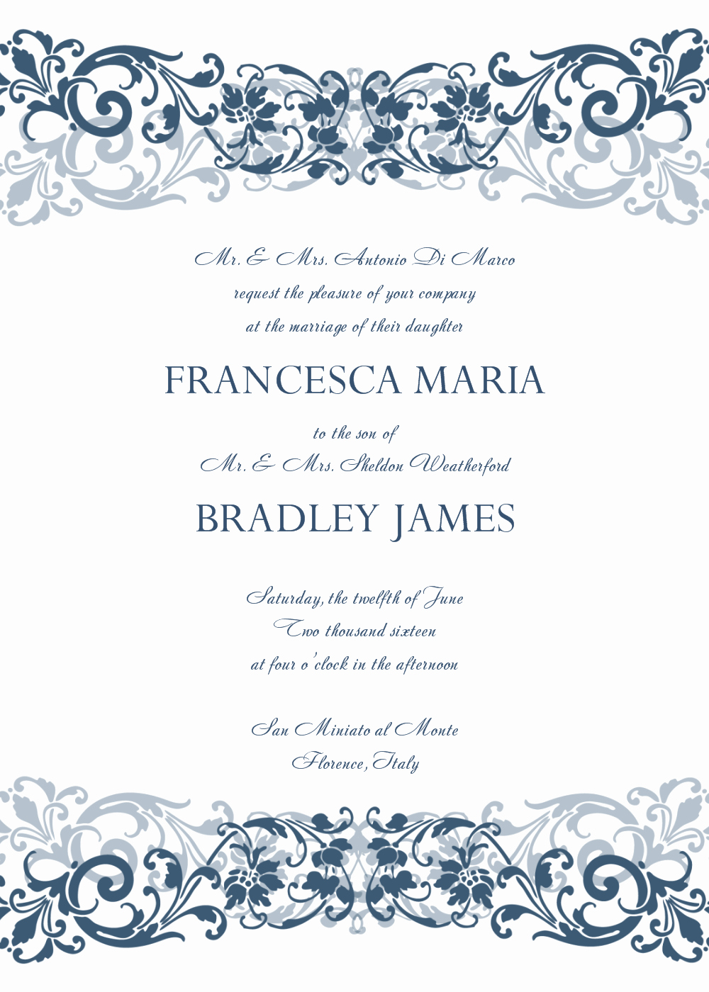 Word Invitation Template Free Elegant 30 Free Wedding Invitations Templates