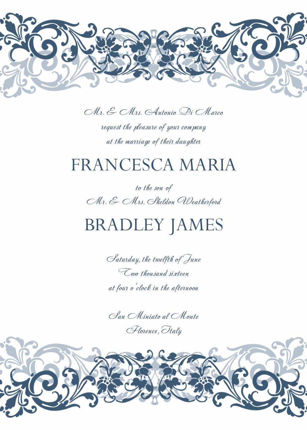 Word Invitation Template Free Elegant 30 Free Wedding Invitations Templates