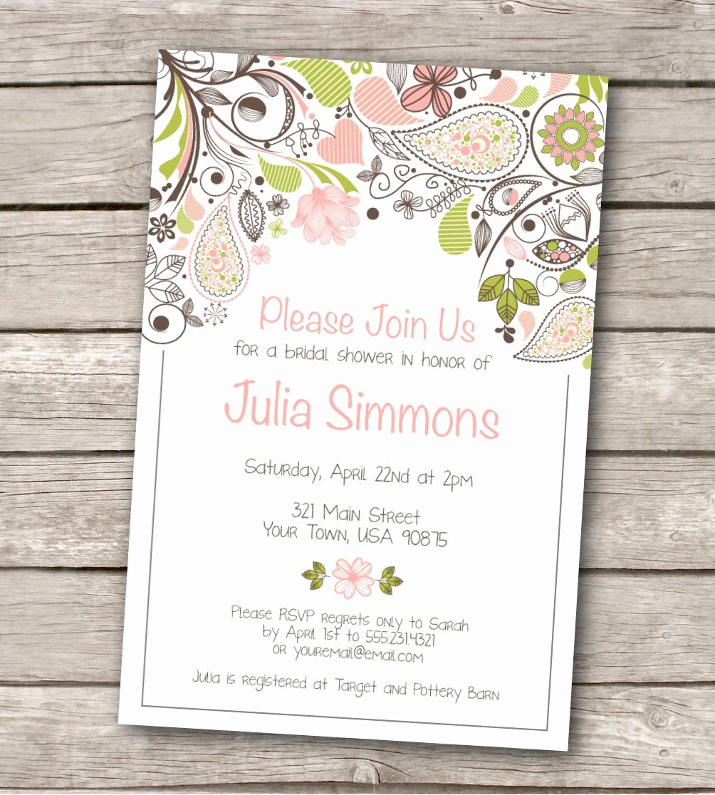Word Invitation Template Free Fresh Bridal Shower Invitation Templates Bridal Shower