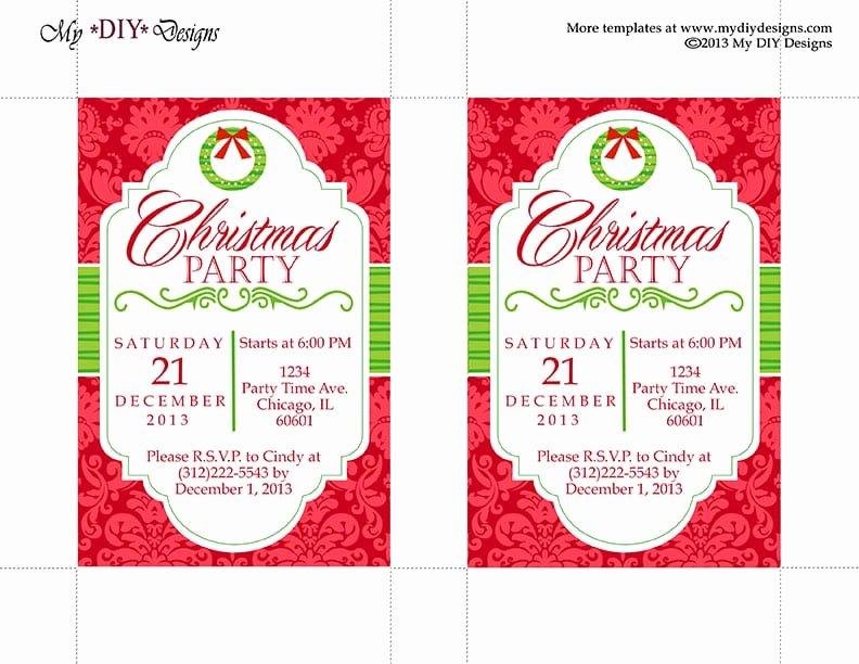 Word Invitation Template Free Fresh Christmas Invitation Template