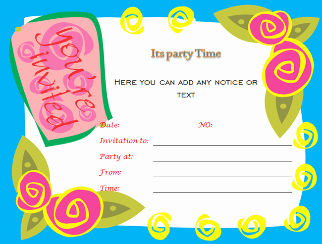 Word Invitation Template Free Inspirational 40th Birthday Ideas Birthday Invitation Templates for