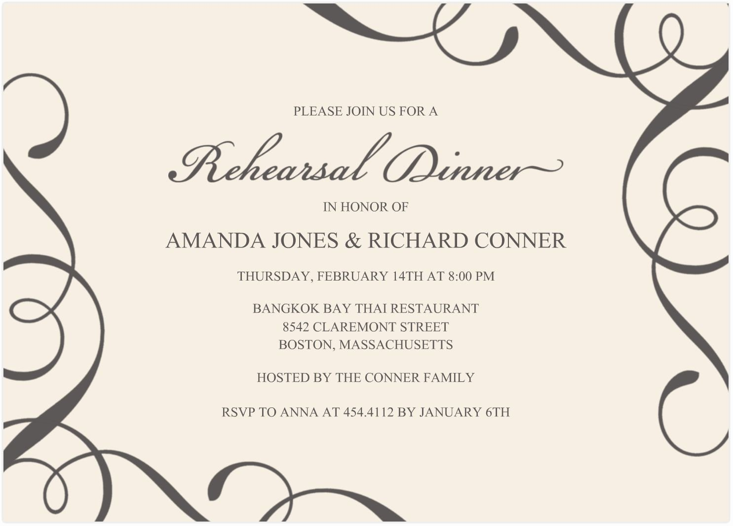 Word Invitation Template Free Lovely Free Samples Wedding Invitation Cards