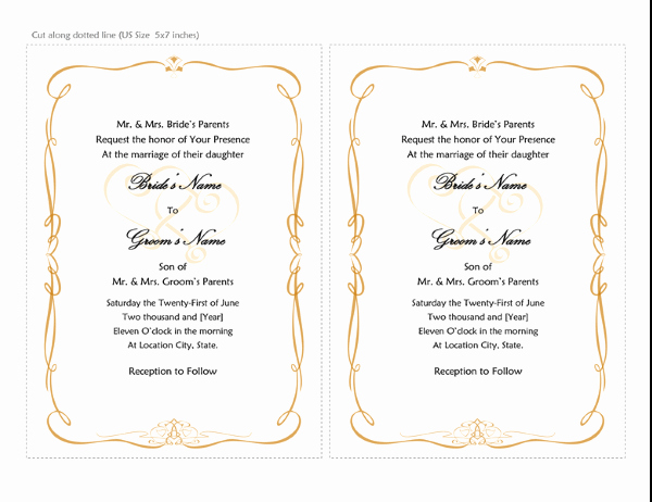 Word Invitation Template Free Lovely Invitations Fice
