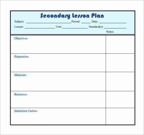 Word Lesson Plan Template Awesome Free 8 Sample Lesson Plans In Pdf