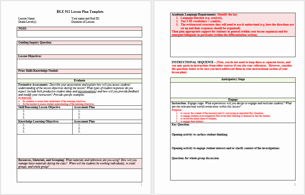 Word Lesson Plan Template Fresh 39 Free Lesson Plan Templates Ms Word and Pdfs