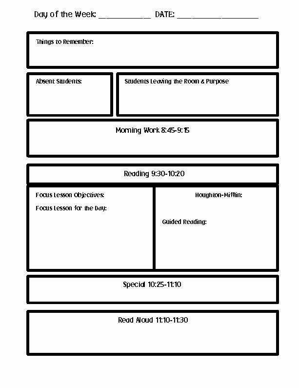 Word Lesson Plan Template Fresh Lesson Plan Template Word