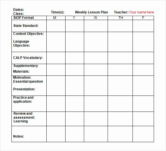 Word Lesson Plan Template Lovely Free 8 Weekly Lesson Plan Samples In Google Docs