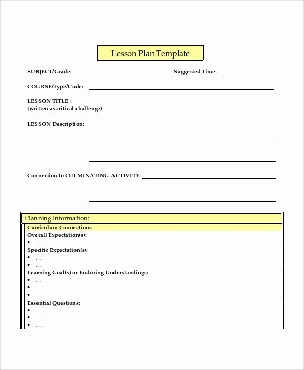 Word Lesson Plan Template Luxury Lesson Plan Template 17 Free Word Pdf Document