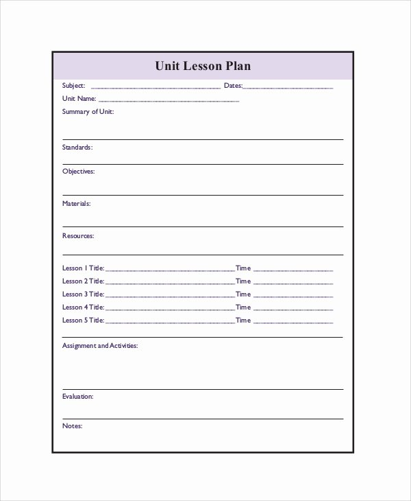 Word Lesson Plan Template Luxury Lesson Plan Template 22 Free Word Pdf Documents
