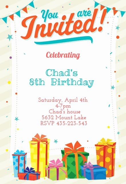 Word Party Invitation Template Best Of Birthday Invitation Templates Free