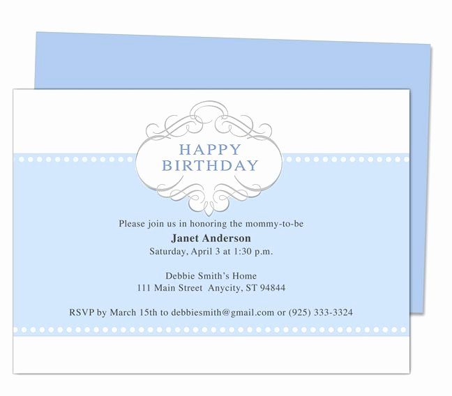 Word Party Invitation Template Fresh Prince 1st Birthday Invitation Templates Edits with Word