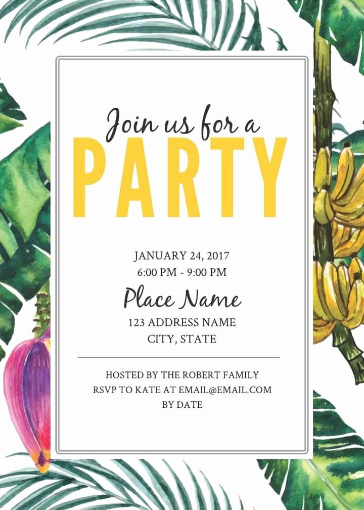 Word Party Invitation Template Lovely 2 Free Birthday Invitation Templates & Examples Lucidpress