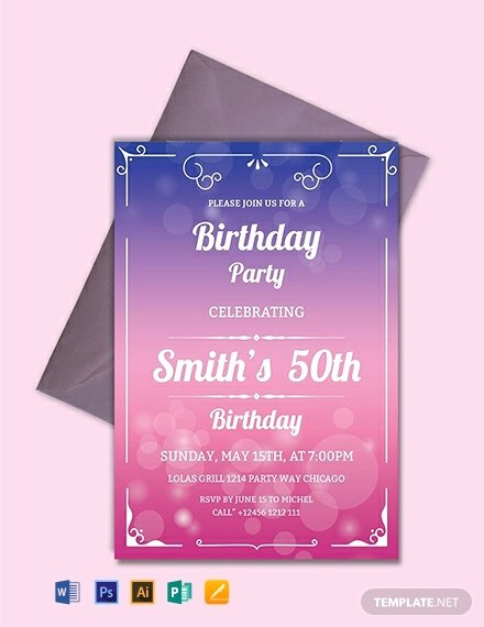 Word Party Invitation Template New Free 50th Birthday Invitation Template Word