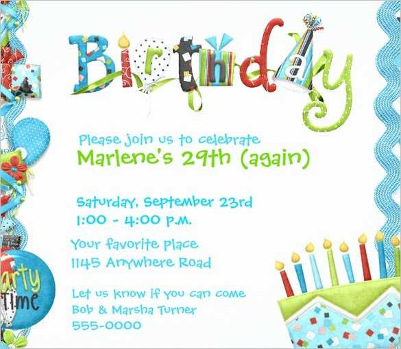 Word Party Invitation Template Unique Birthday Invitation Template – 48 Free Word Pdf Psd