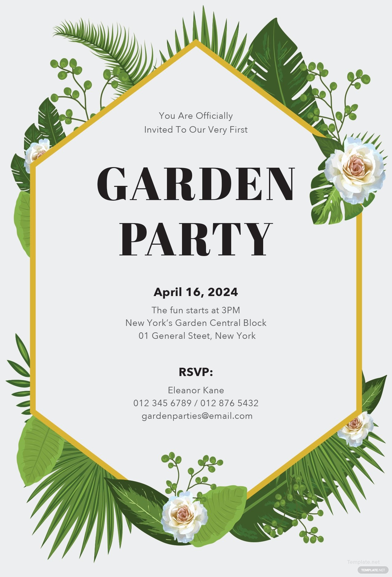 Word Party Invitation Template Unique Free Garden Party Invitation Template In Microsoft Word