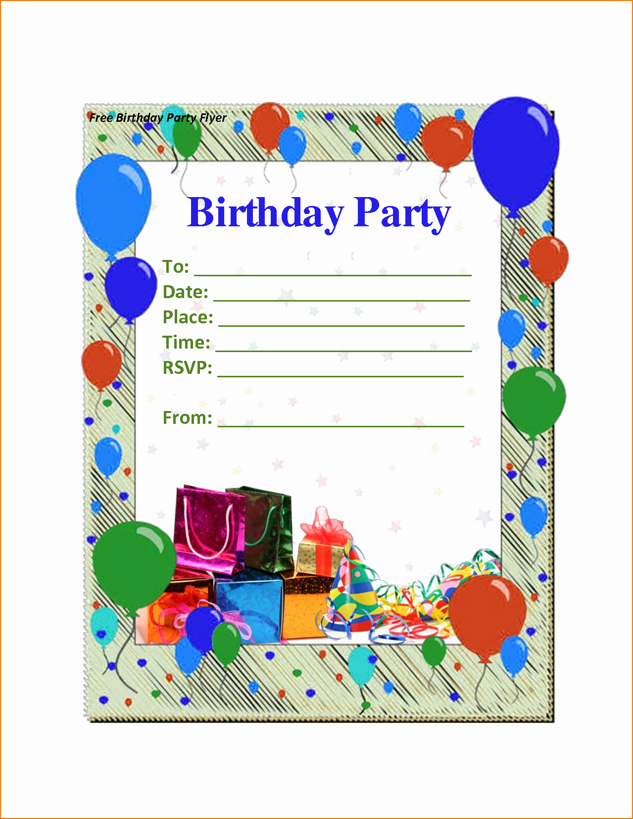 Word Party Invite Template Elegant 6 Birthday Party Invitation Template Word