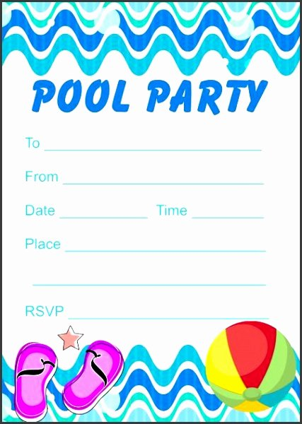 Word Party Invite Template Lovely 6 Pool Party Invitation Templates Word Sampletemplatess