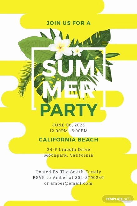 Word Party Invite Template Lovely Free Summer Party Invitation Template In Microsoft Word