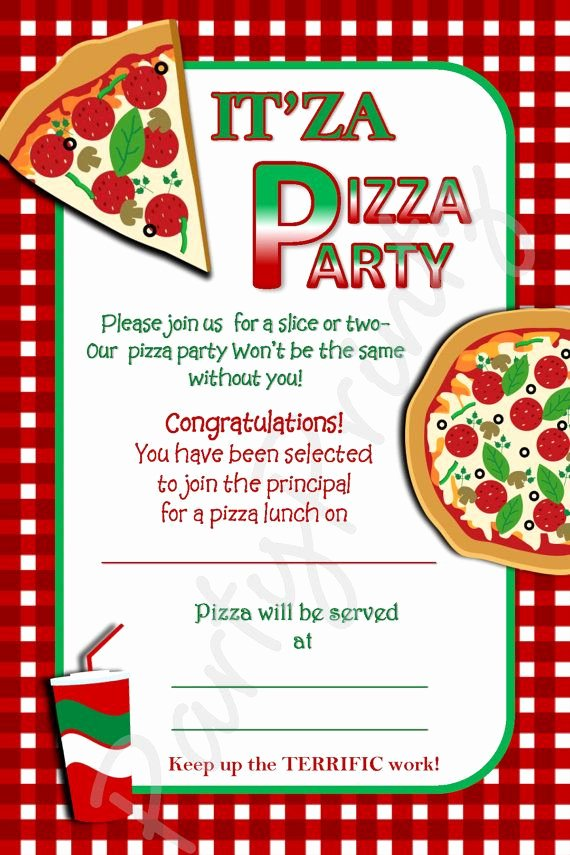 Word Party Invite Template Unique Free Printable Pizza Party Invitation Template