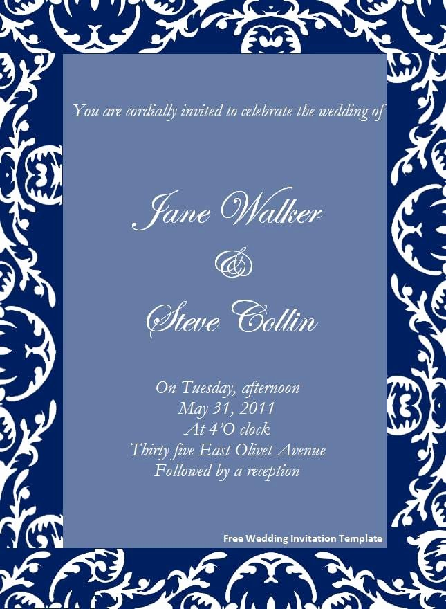 Word Template for Invitations Awesome Free Dinner Invitation Template