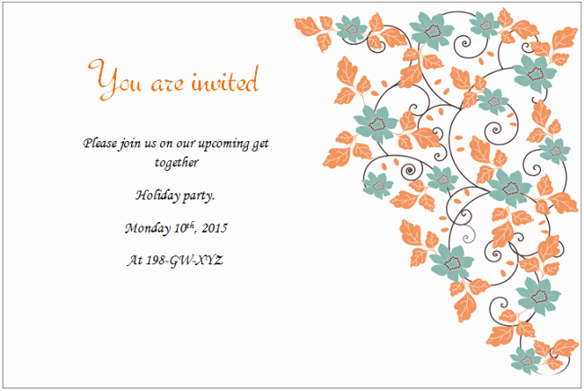holiday invitation templates