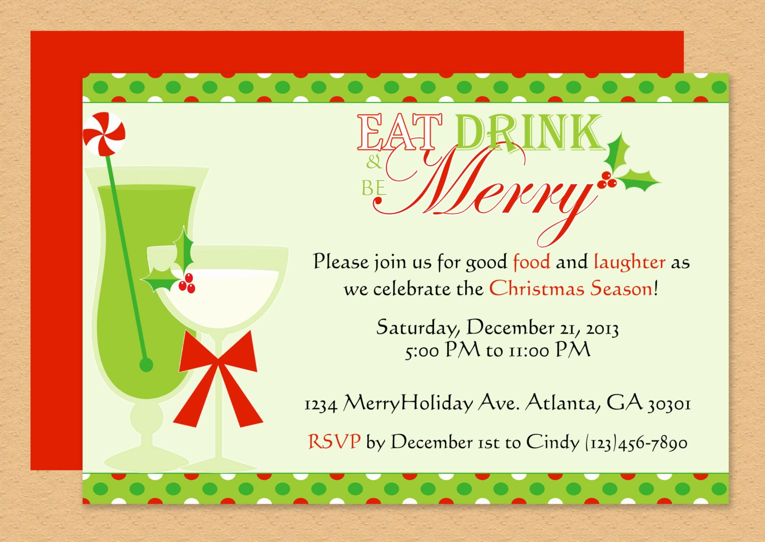 Word Template for Invitations Lovely Be Merry Invitation Editable Template Microsoft Word