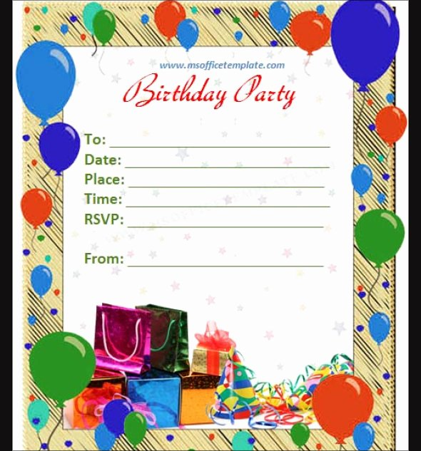 Word Template for Invitations Luxury 5 Several Different Birthday Invitation Maker
