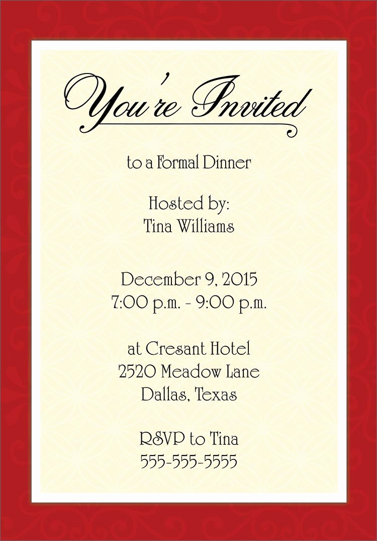 Word Template for Invitations New Examples Of formal Invitation Cards