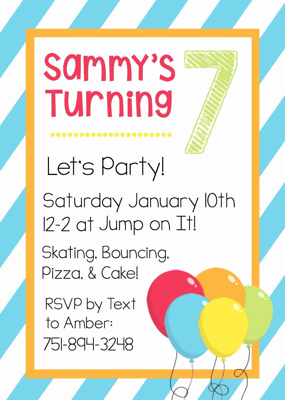 Word Template for Invitations Unique Free Printable Birthday Invitation Templates
