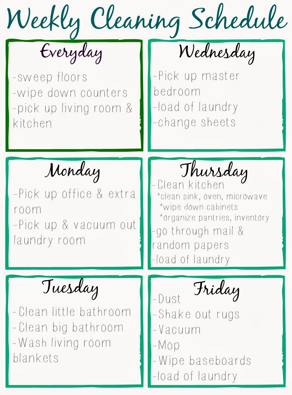 Work Cleaning Schedule Template Fresh orchard Girls Free Printable Cleaning Schedule