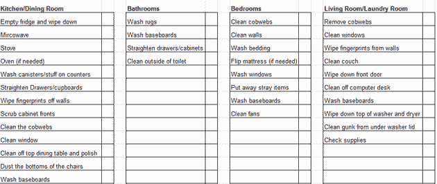 Work Cleaning Schedule Template Lovely Weekly House Cleaning Schedule Template & Checklist Chart