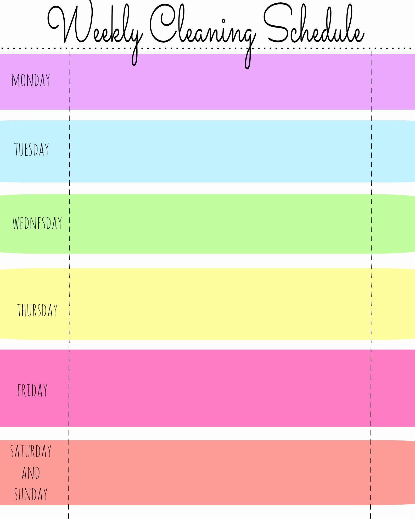Work Cleaning Schedule Template Luxury Schedule Printable Gallery Category Page 1