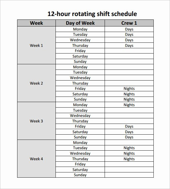 Work Hour Schedule Template Awesome 24 Hour Shift Schedule Template – Planner Template Free