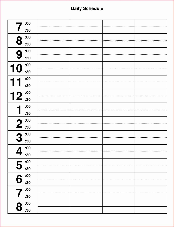 Work Hour Schedule Template Beautiful 10 Excel Hourly Schedule Template Exceltemplates