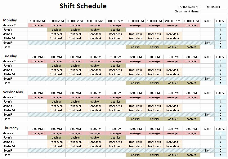 Work Hour Schedule Template New 24 Hour Shift Schedule Template – Planner Template Free